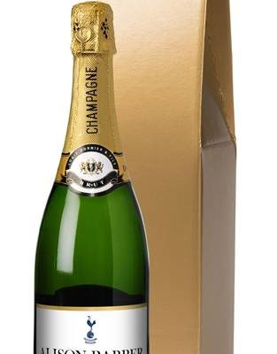 personalised champagne spurs classic in a gold gift box