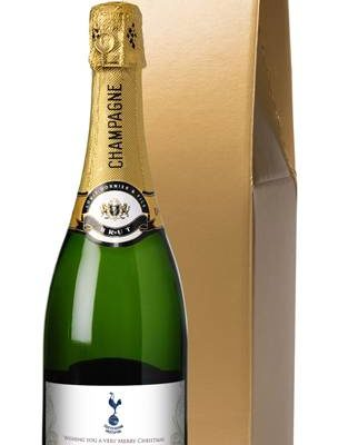 personalised champagne spurs gold swirls in a gold gift box
