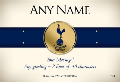 personalised spurs blue band labels for red wine