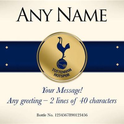 personalised spurs blue band labels for white wine