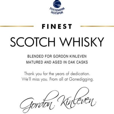 personalised spurs classic labels for blended whisky