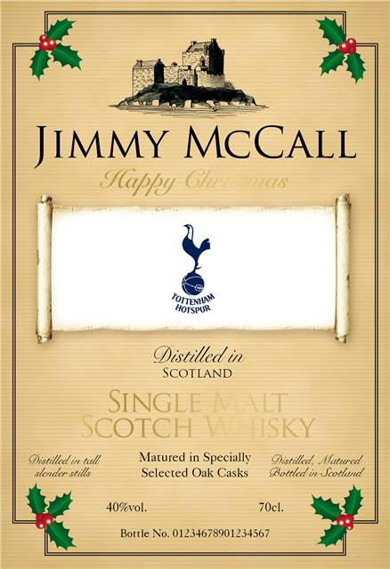 personalised spurs for xmas labels for single malt whisky 1