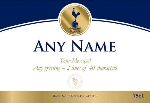 personalised spurs gold labels for red wine