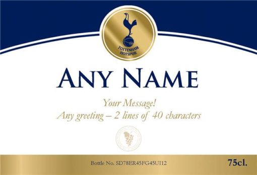 personalised spurs gold labels for white wine