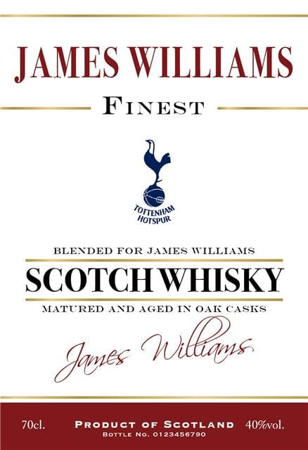 personalised spurs historic style labels for blended whisky 1