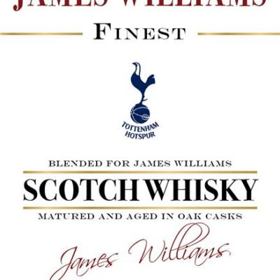 personalised spurs historic style labels for blended whisky