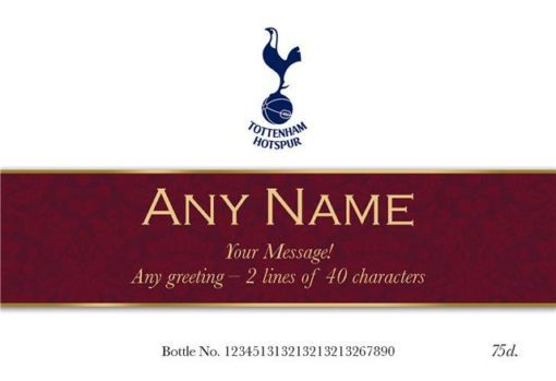 personalised spurs ribbon design labels for red wine