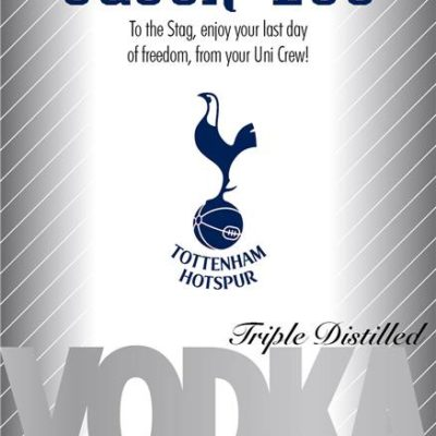 personalised spurs silver labels for vodka