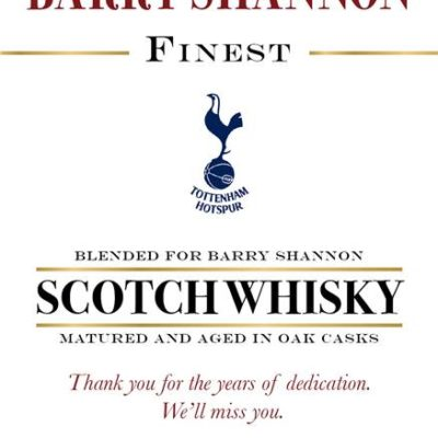 personalised spurs traditional labels for blended whisky 1