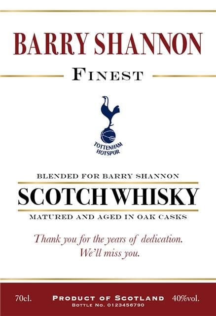 personalised spurs traditional labels for blended whisky