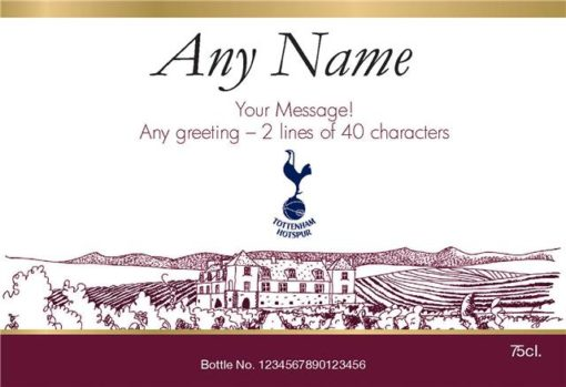 personalised spurs vineyard labels for red wine