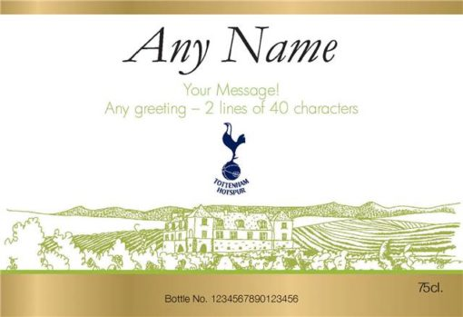 personalised spurs vineyard labels for white wine