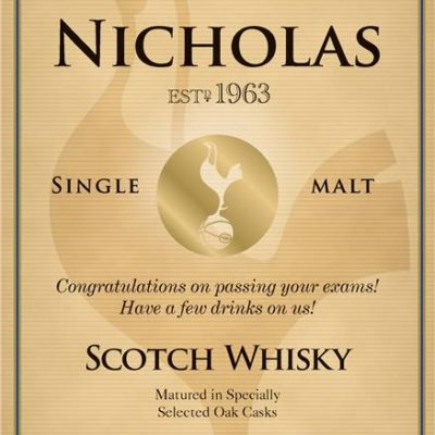 personalised spurs vintage labels for single malt whisky