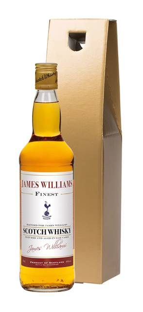 personalised spurs whisky blend historic style label in a gold gift box