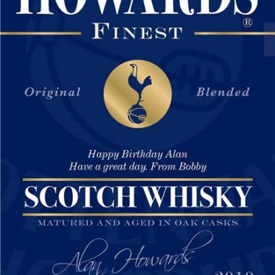 personalised spurs blue labels for blended whisky