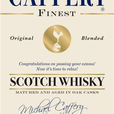 personalised spurs cream labels for blended whisky