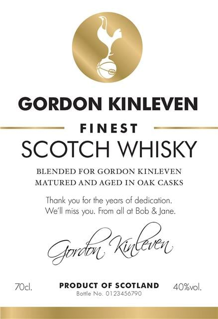 personalised spurs white labels for blended whisky