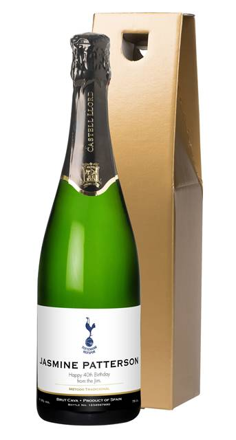 personalised spurs cava classic spurs label in a gold gift box