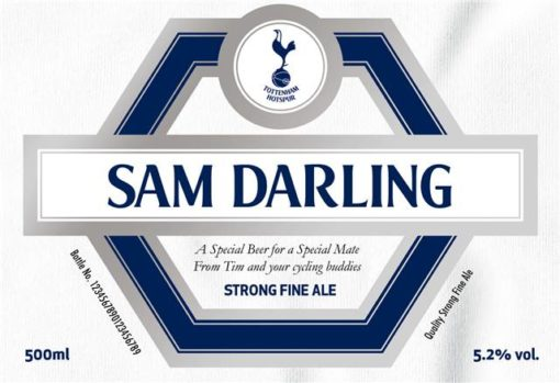 personalised spurs beer traditional label