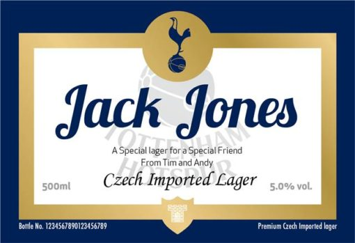personalised spurs traditional labels for lager