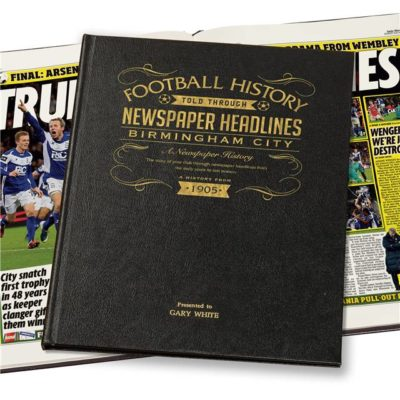 birmingham football newspaper book black leather cover