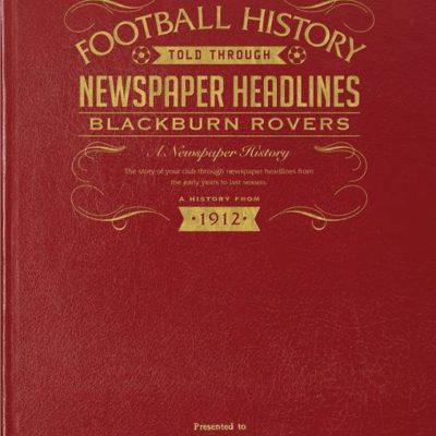 blackburn football newspaper book red leather cover