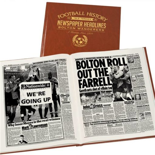 bolton football newspaper book brown leatherette