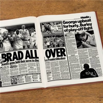 bradford football newspaper book brown leatherette
