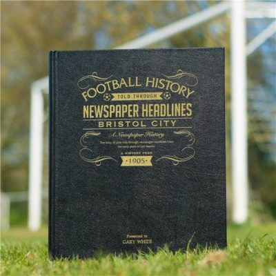 bristol city football newspaper book black leather cover