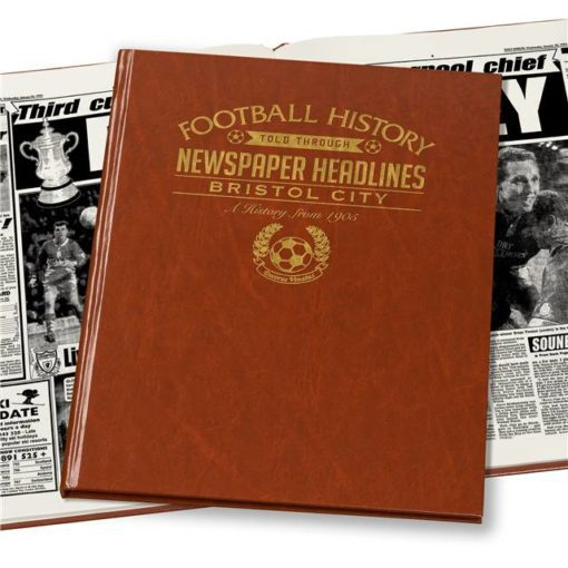bristol city football newspaper book brown leatherette