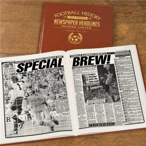dundee football newspaper book brown leatherette