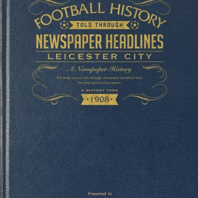 leicester city newspaper book blue leather cover