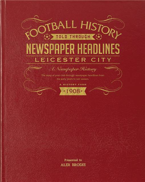 leicester city newspaper book red leather cover
