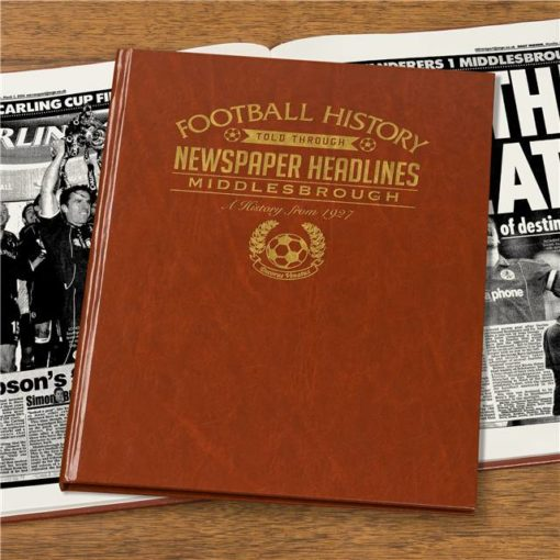 middlesbrough newspaper book brown leatherette
