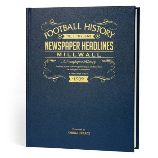 millwall newspaper book blue leather cover