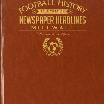 millwall newspaper book brown leatherette
