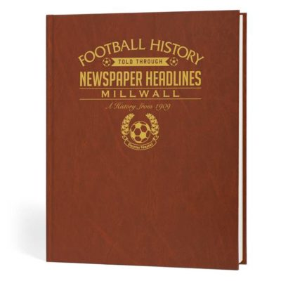 millwall newspaper book brown leatherette colour pages