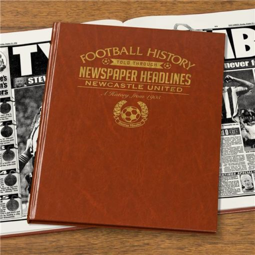 newcastle newspaper book brown leatherette