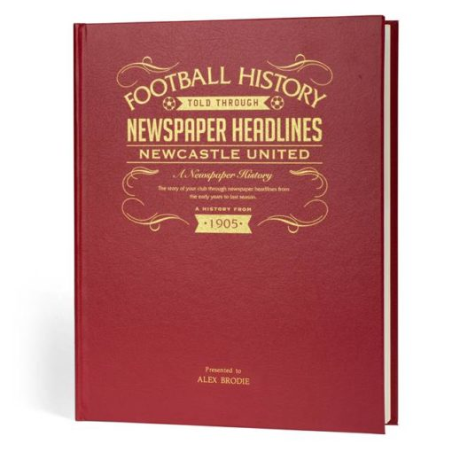 newcastle newspaper book red leather cover
