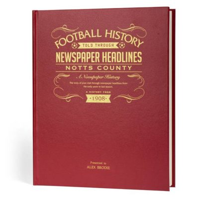 notts county newspaper book red leather cover