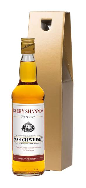 personalised blended whisky sunderland corporate message in a gold giftbox