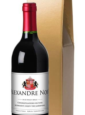 personalised french ac sunderland corporate red wine classic in a gold giftbox
