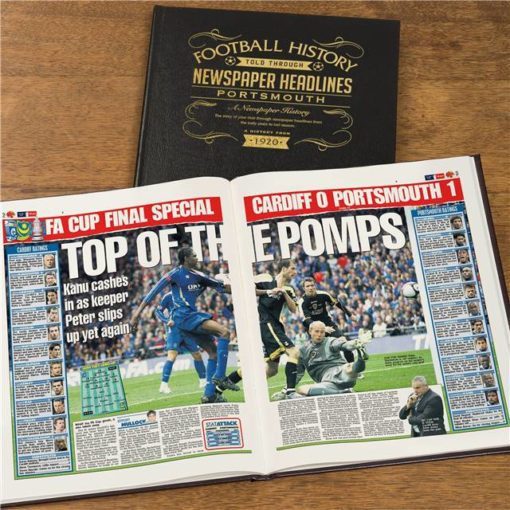 portsmouth newspaper book black leather cover