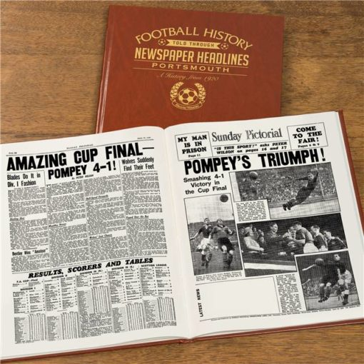 portsmouth newspaper book brown leatherette