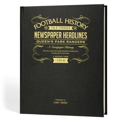qpr newspaper book black leather cover