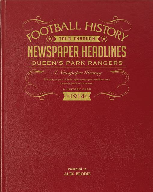 qpr newspaper book red leather cover