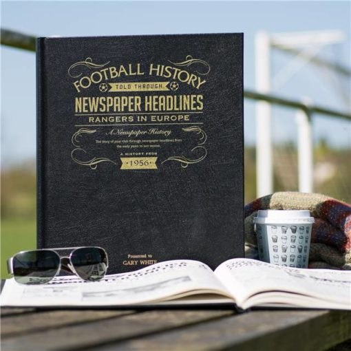 rangers europe newspaper book black leather cover