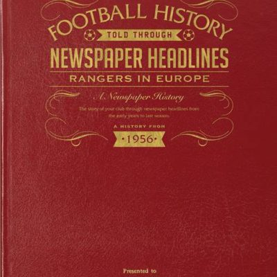 rangers europe newspaper book red leather cover