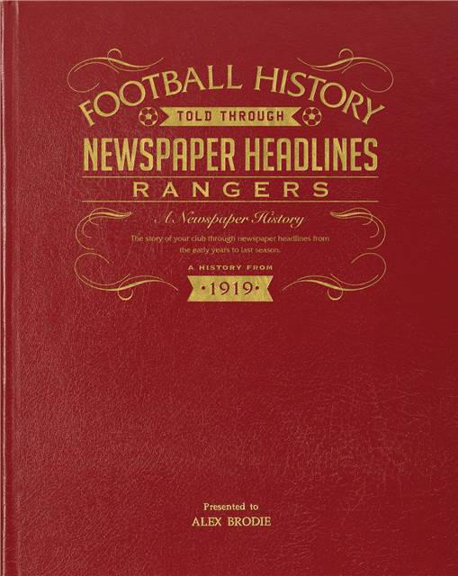 rangers newspaper book red leather cover