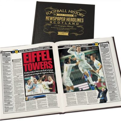 scotland int football newspaper book black leather cover